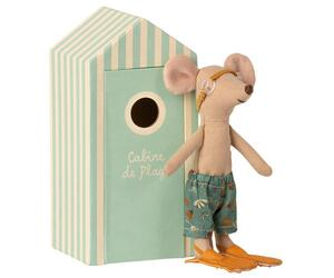 Maileg – Beach Mouse Big Brother in Cabin